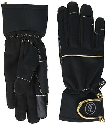 (Small, Black) - Riders Trend Unisex Winter Horse Amara/Soft Shell Thinsulate