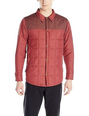 (Small, Oxblood) - Airblaster Men's Quilted Shirt Jack. Shipping is Free