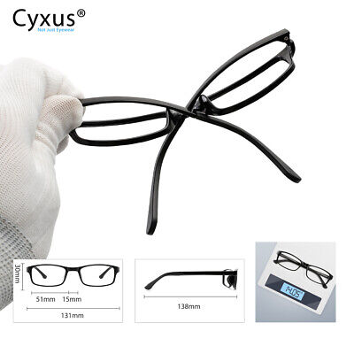 Cyxus Lightweight Computer Gaming Glasses Block Blue Light Anti Eyestrain Black