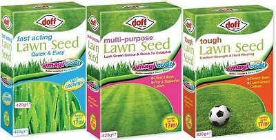 Doff Magicoat Multi-Purpose / Fast Acting / Tough Grass Lawn Seed 420 g