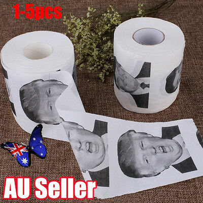 Donald Trump Humour Toilet Paper Roll Novelty Funny Gag Gift Dump with Trump BO