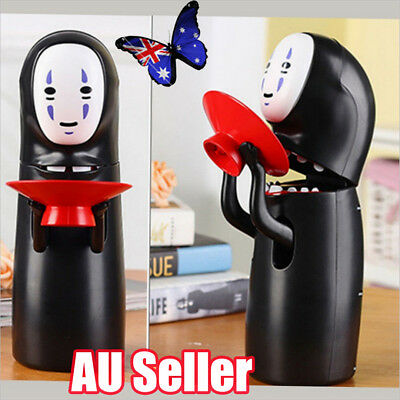 Spirited Away Kaonashi No-Face Man Music Coin Eating Money Saving Box Bank BO
