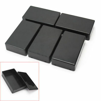 5Pcs Electronic Project Instrument Case Plastic Enclosure Box 100x60x25mm Black