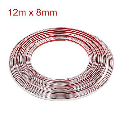 15m x 8mm Chrome Moulding Trim Strip Car Door Edge Decoration Guard Protector