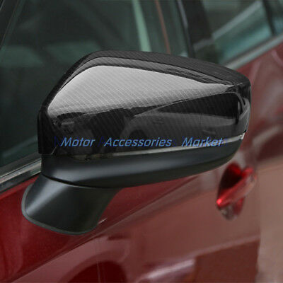 Sport Carbon Fiber Rearview Mirror Cover Trim For Mazda CX-5 CX 5 2017 2018