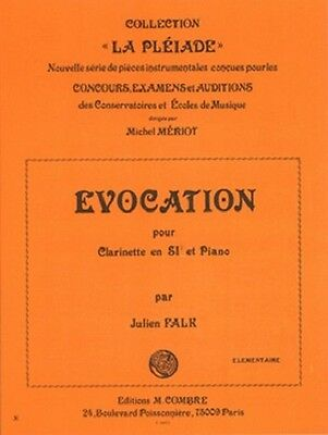 Partition pour clarinette - Julien Falk - Evocation