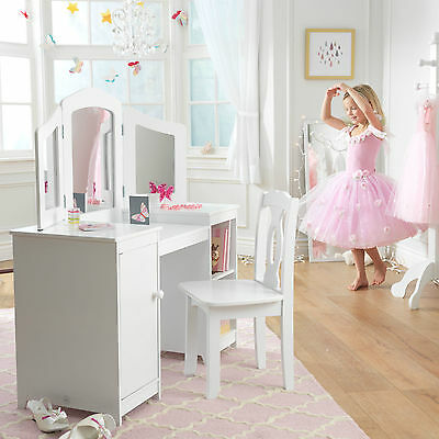 Kidkraft Deluxe Vanity Table and Chair, Kids Vanity Table