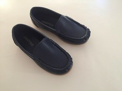 NEW Boys Formal Soft Rubber Sole Loafer Shoes, Navy Blue size 5 6 7 8 9 10 11 12