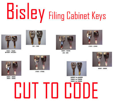 Bisley Replacement Filing Cabinet Keys Cut to Code - Keys Professionally Cut