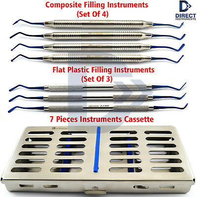 Dental Composite Filling Instruments Anterior Amalgam Placement Tools + Cassette