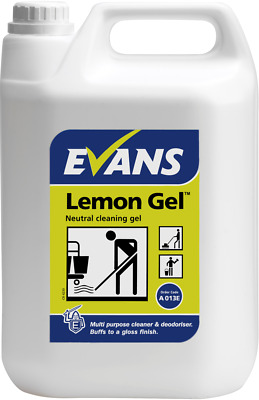 Evans Vanodine Lemon Floor, Wall & Hard Surface Neutral Cleaning Gel - 5 Litres