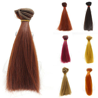 15cm DIY Colorful Doll Straight Hair Wigs for 1/3 1/4 1/6 Barbie BJD SD Dolls