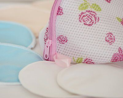 12 Reusable Bamboo Baby Feeding Breast Pads Washable Mum Nursing Breastfeeding