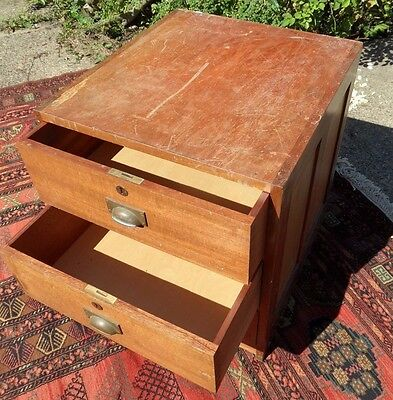 Antique Edwardian Shabby Chic Rustic French Chest of 3 Drawers Bedside Unit