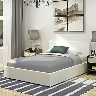 3ft 4ft6 5ft STORAGE BED OTTOMAN GAS LIFT SINGLE DOUBLE KING SIZE LEATHER BED