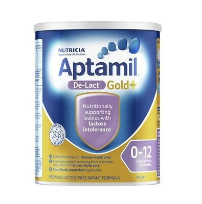 900g Aptamil Gold De-Lact Lactose Free Infant Formula From Birth 0-12 Months
