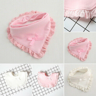 EG_ HK- Newborn Toddler Baby Bibs Girls Round Triangle Saliva Towel Feeding Bib