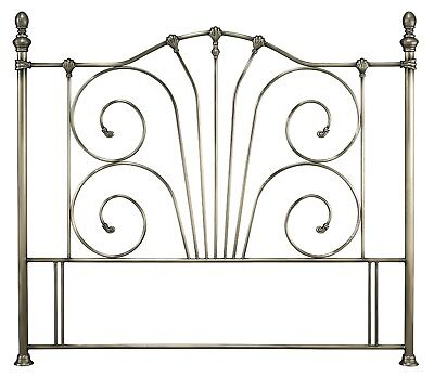 Antique brass finish effect metal tall headboard bed head end.Traditional