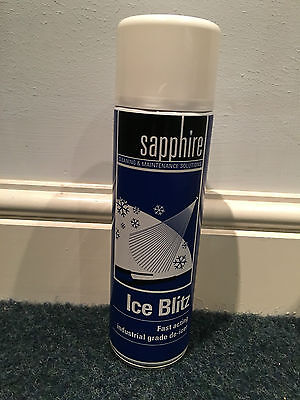 3 x 500ml Blitz Car Plan Window Windscreen De Icer Aerosol Spray Melts Snow Ice