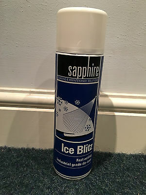 500ml - Blitz Car Plan Window Windscreen De Icer Aerosol Spray Melts Snow Ice