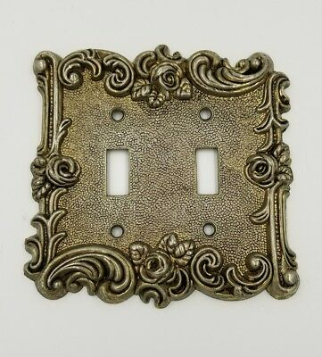 Double Brass Vintage Amertac Hardware Brass Switch Covers Plates Rose 1960s