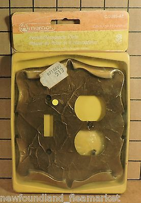Vintage UNUSED Ornate Metal Switch Outlet Face Plate Cover HD#30