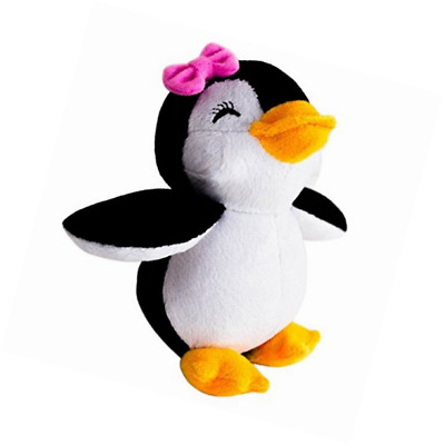 Stuffed Girl Penguin - 5 Inch Plush Soft Animal Toy for Babies and Children - By
