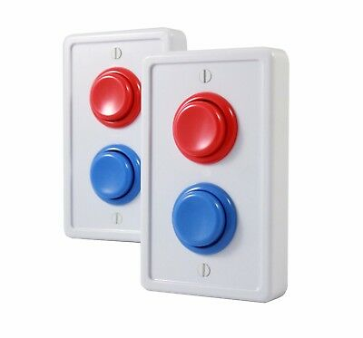 Arcade Light Switch Plate Cover, -2 PACK- Single Switch (White/Red/Blue)