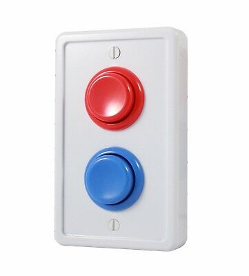 Arcade Light Switch Plate Cover, Single Switch (White/Red/Blue)