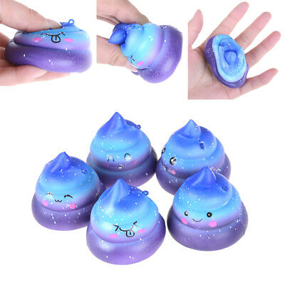 Funny Scented Squishy Charm Slow Rising Simulation Dung Slime Toy Phone StrapP&T