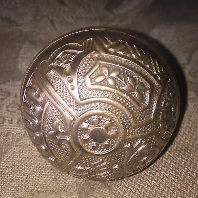 "Door Knob (single) Antique  BRASS VICTORIAN Eastlake 2 1/4""  Ceylon # B"