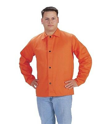 "Tillman 6230D Welding Jacket 30"" 9 oz. High-Visibility Orange FR Cotton X-Large"
