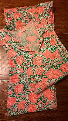 VTG 60's Lilly Pulitzer- 2 Piece Pink/Green/White Floral Top/Capri Set M??