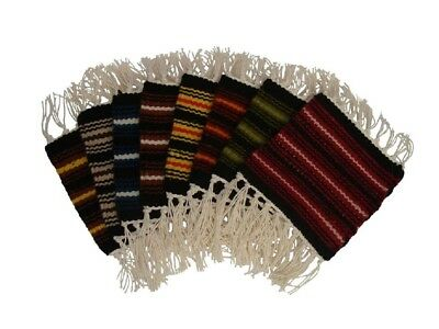 Set of 6 Beer Drink Woven Wool Coaster Mats Beverage Table Bar Wine Mug Rug SW