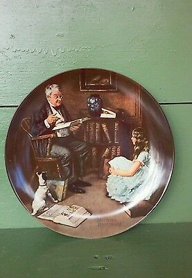 """THE STORYTELLER"" * KNOWLES NORMAN ROCKWELL Collectors Plate * FREE SHIPPING"