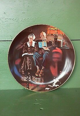 """Evening's Ease"" NORMAN ROCKWELL Collector Plate * Knowles * FREE SHIPPING"