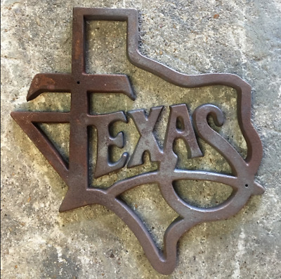 One (1) Large Cast Iron Texas Architectural Antique Lone Star Rustic Ranch