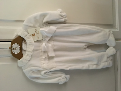 Mintini Baby Designer White All In One With Bow Detail