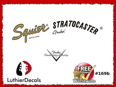 Squier Stratocaster Guitar Decal Waterslide Headstock Fender Restoration #169b