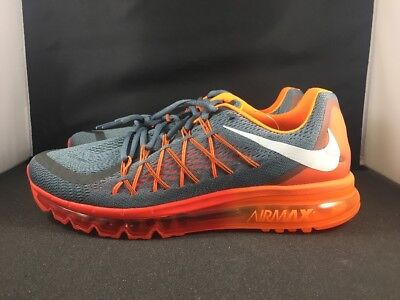check out 58c43 2fc7c NIKE AIR MAX 2015 Running Shoes NEW MEN S COOL GREY WHITE BRIGHT CRIMSON SZ