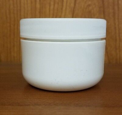 1 oz Wide Mouth White Round Plastic Double Wall Jars with Lids (12 pack)