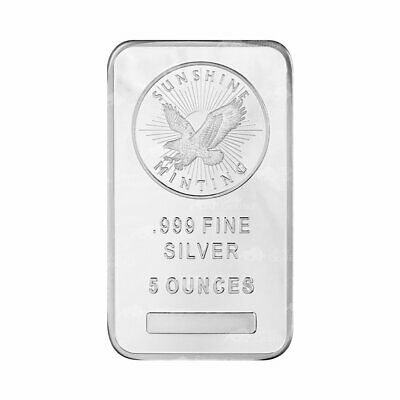 5 oz Sunshine Mint Silver Bar