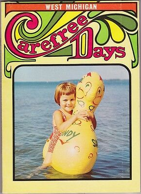 1969 Carefree Days In West Michigan Vacation Guide Book