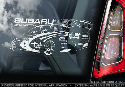 Subaru Impreza WRC - Car Window Sticker - World Rally Team Decal WRX STi - V01