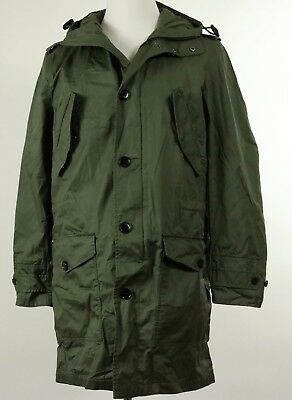 Banana Republic Mens Military Waxed Hoodie Jacket Outerwear Army Green NEW!