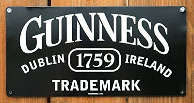 Guinness Trademark Dublin Ireland Metal Beer Sign