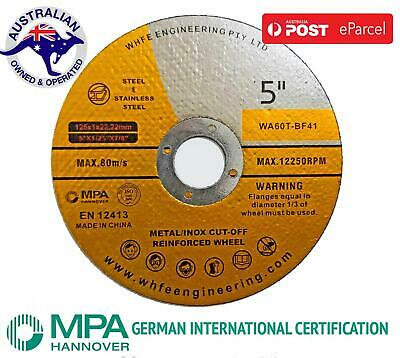 "5"" 125mm x1mm CUTTING DISC WHEEL THIN ANGLE GRINDER CUT OFF METAL STEEL FLAP"
