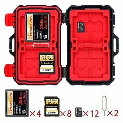 24 Slots Memory Card Storage Carrying Case Protector Box Holder for SD CF MSD