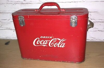 Coca-Cola Cavalier - Carry Cooler - Nice Original Condition - Embossed Letters