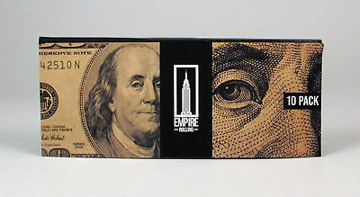 Empire Rolling Papers 1 Wallet of 10 $100 Bill Rolling Papers Free U.S. Shipping